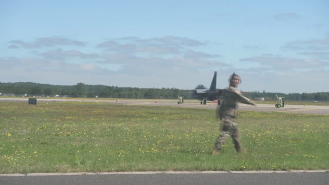 watching a training exercise at raf lakenheath uk on monday june 27 2019 - army soldier stock videos & royalty-free footage