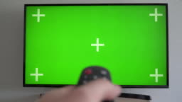 Watching Chroma Key TV and Changing Channel by Remote Control  Green Screen