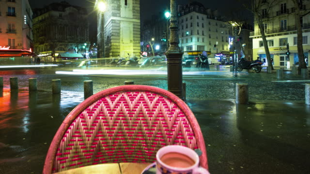 watching the world go by from paris cafe - time lapse - martin luther: his life and time stock videos & royalty-free footage