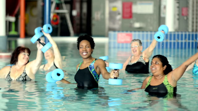 water aerobics - over 80 stock videos and b-roll footage