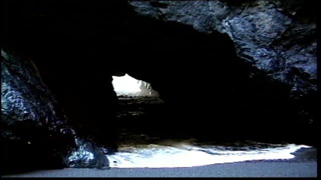 water and waves inside cave under rock - small boat stock videos & royalty-free footage