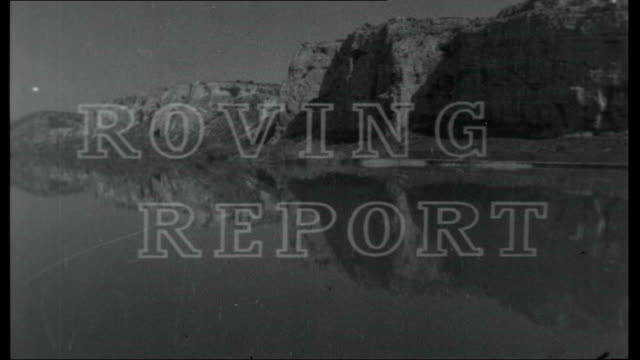 water and wine; programme titles for 'roving report: water and wine' over rhone river - rhone river stock videos & royalty-free footage