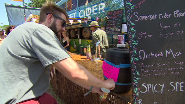 water being served at glastonbury - water cooler stock videos & royalty-free footage