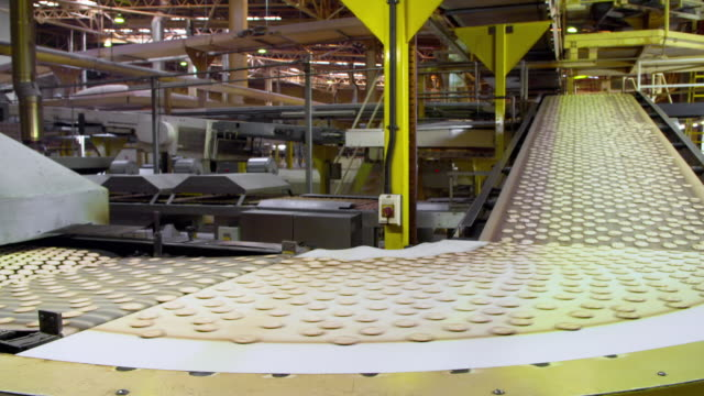 a water biscuit factory in the uk - production line stock videos & royalty-free footage
