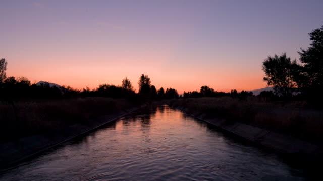 Water canal in Erzincan, Turkey