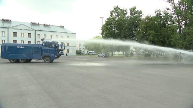 water cannon truck - practice - 放水砲点の映像素材/bロール