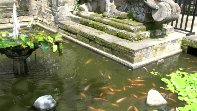 Water Channels And Gardens Inside Puri Saren Agung (Water Palace Or Royal Palace) In Ubud, Bali