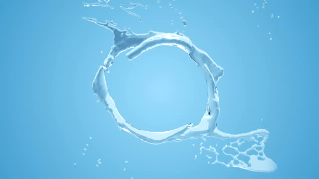 water circle concept loop - water splash stock videos & royalty-free footage