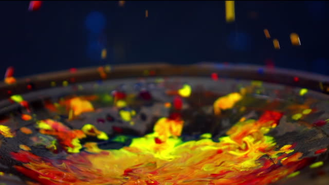 water color explosion slow motion on speaker - multi coloured stock videos & royalty-free footage