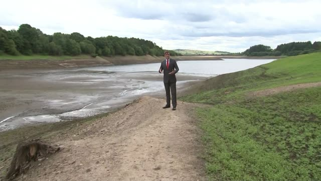 water companies criticised over volume of water lost to leakages uk bolton wayoh reservoir / london dry reservoir steve mogford interview water going... - extreme weather stock videos & royalty-free footage