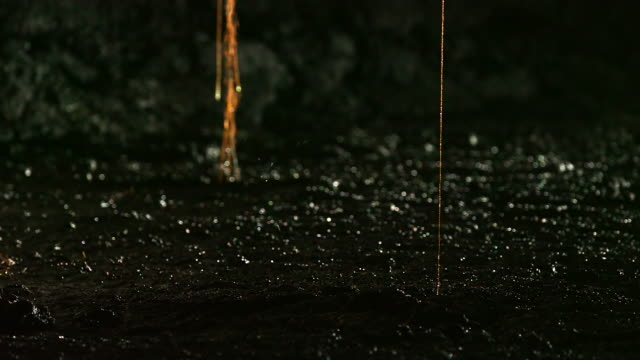 water dripping from a tree root covered in calcium carbonate inside yongcheon cave (unesco world natural heritage site) - calcium carbonate stock videos and b-roll footage