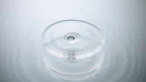 water drop falling on silver surface - våg vatten bildbanksvideor och videomaterial från bakom kulisserna