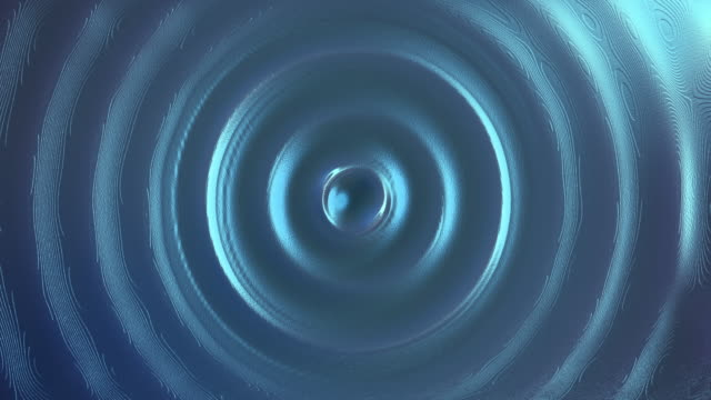 water drop splash and waves with blue light - concentric stock videos & royalty-free footage