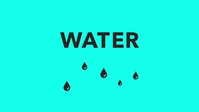 Wassertropfen - Vektor animieren