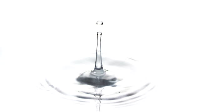 slow motion: water drop - raindrop stock videos & royalty-free footage