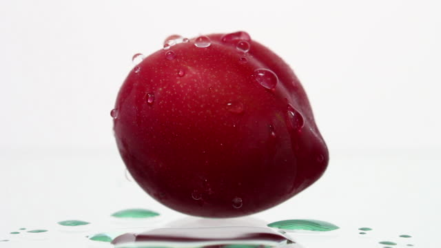 water droplets fall on plum - plum stock videos & royalty-free footage