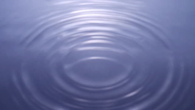 Water droplets, ripples