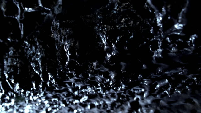 water dropping from the ceiling of manjanggul cave / jeju-si, jeju-do, south korea - mineral stock videos & royalty-free footage