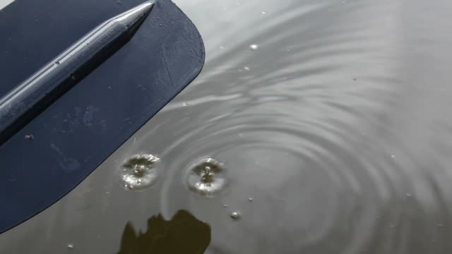water drops from a canoe paddle - oar stock videos & royalty-free footage