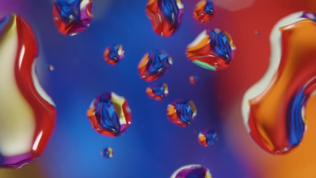 water drops on glass abstract background colored glass rotating - water form stock videos and b-roll footage