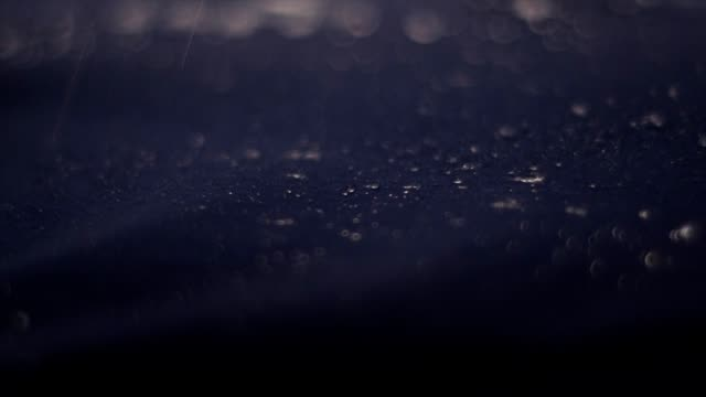 water drops on synthetic waterproof fabric. sports clothing close up - surface level stock videos & royalty-free footage