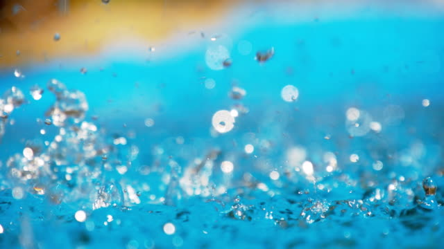 slo mo water drops splashing - fountain stock videos and b-roll footage