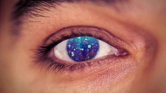 water eye - contact lens stock videos and b-roll footage