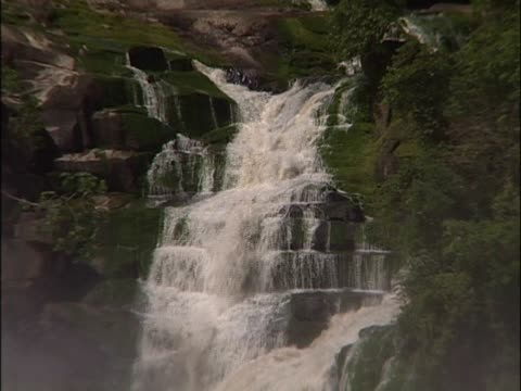 water falling through rocks in a river - 1 minute or greater stock videos & royalty-free footage