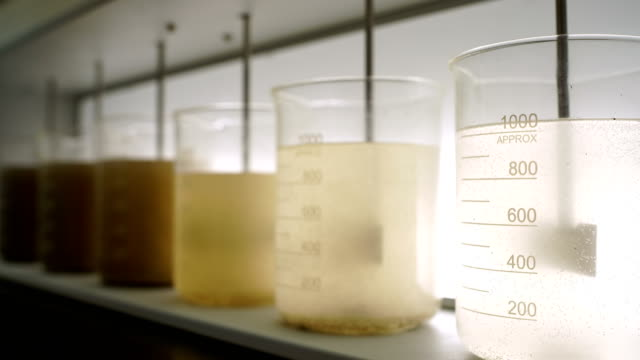 water filtration process in the laboratory - biologist stock videos & royalty-free footage