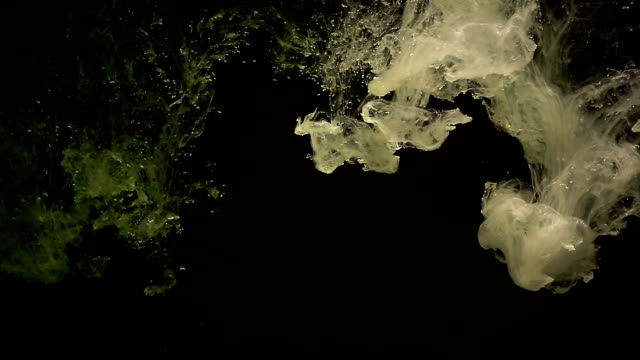 vidéos et rushes de peinture acrylique de débit d'eau - papier peint