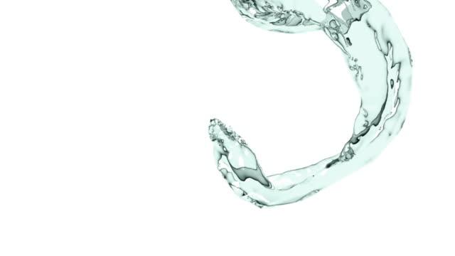 水の流れ - 流れる点の映像素材/bロール