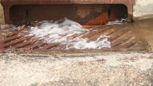 Water Flowing Down a Storm Drain