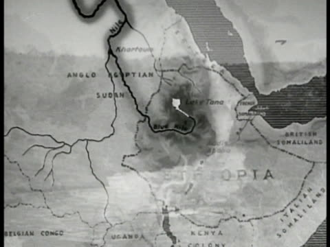 water flowing from lake tana into blue nile & up to british sudan toward nile river. - 1935 stock videos & royalty-free footage