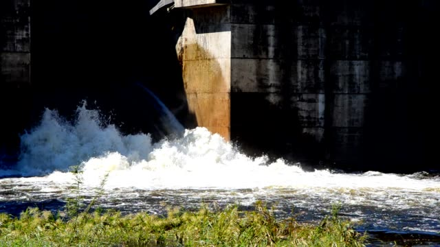 water flowing from the dam gate - station stock videos and b-roll footage