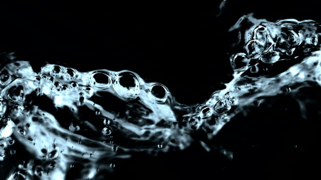 Water Flowing in Slow Motion