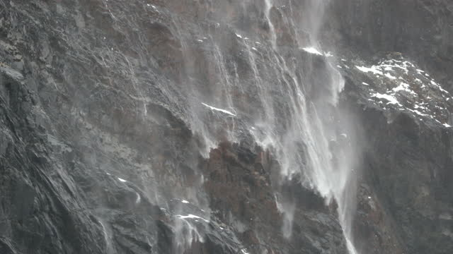 water flowing on rock face - south georgia island stock videos & royalty-free footage