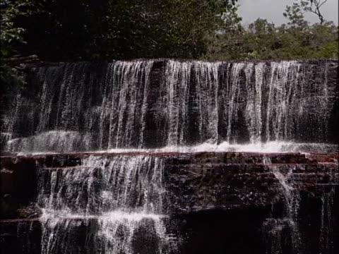 water flowing on rocks - natürliches muster stock-videos und b-roll-filmmaterial
