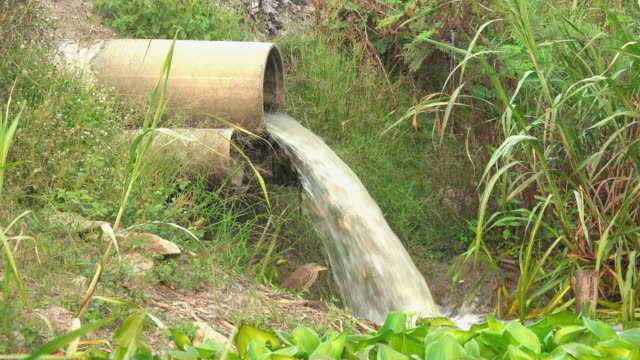 water flowing through the cement tube - hygiene stock videos & royalty-free footage