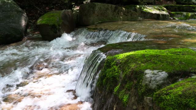 water flowing through valley / inje-gun, gangwon-do, south korea - boulder rock stock videos & royalty-free footage