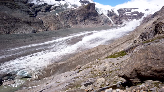 water flows down a mountainside above the retreating pasterze glacier on august 14, 2019 near heiligenblut am grossglockner, austria. the pasterze,... - human tongue stock videos & royalty-free footage