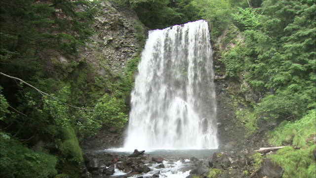 water flows from zen goro falls in japan. - nagano prefecture stock videos and b-roll footage