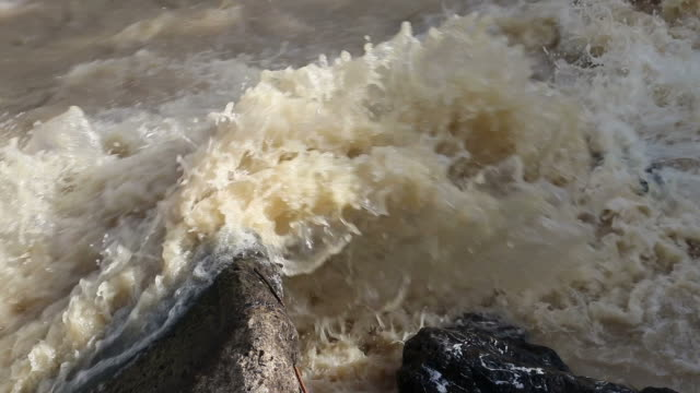 water flows violently rocks. - eroded stock videos & royalty-free footage