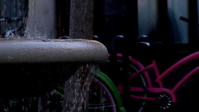water fountain close up at the bike rack - hd - combination lock stock videos & royalty-free footage