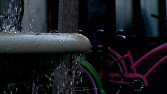 water fountain close up at the bike rack - combination lock stock videos & royalty-free footage