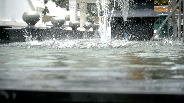 water fountain in super slow motion. - fountain stock videos and b-roll footage