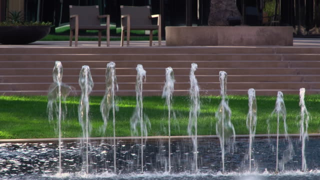 Water Fountains in a Corporate Park