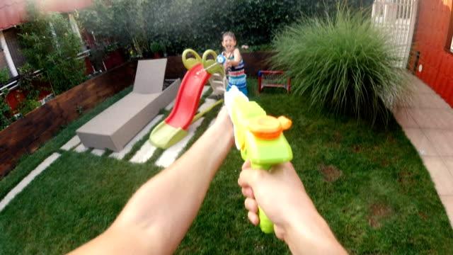 Water gun battle