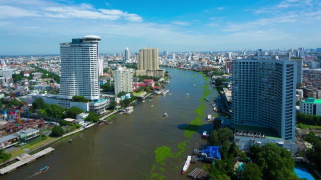 vídeos y material grabado en eventos de stock de planta de jacinto de agua flotando en el río chao phraya - water plant