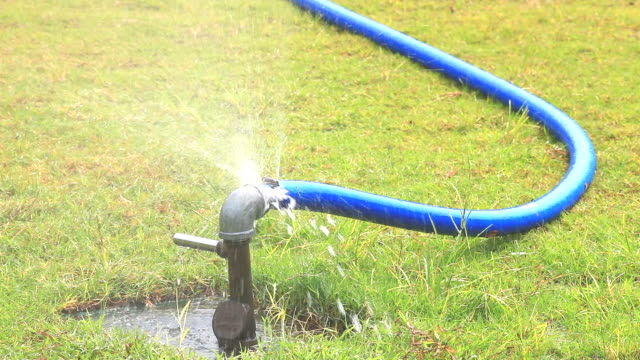 water leak from faucet - sprinkler system stock videos & royalty-free footage