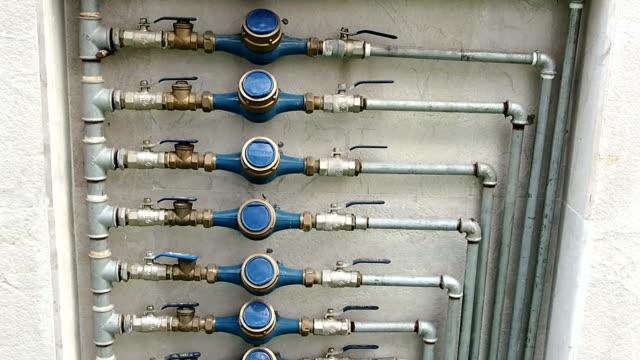 water meters - pipe stock videos & royalty-free footage